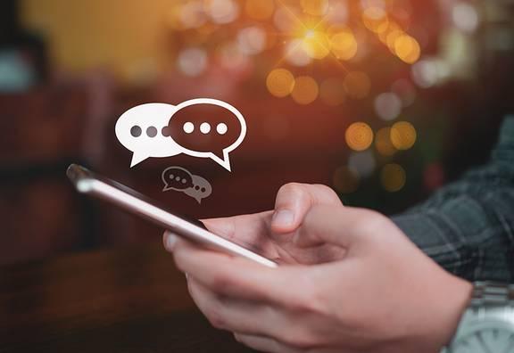 chatten auf dem Smartphone