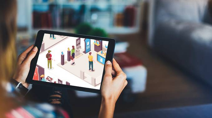Digitale Messe online von zu Hause aus besuchen